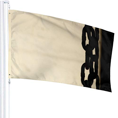 N/A roestige ketting vlag premium polyester decoratie vlag 5ft x 3ft