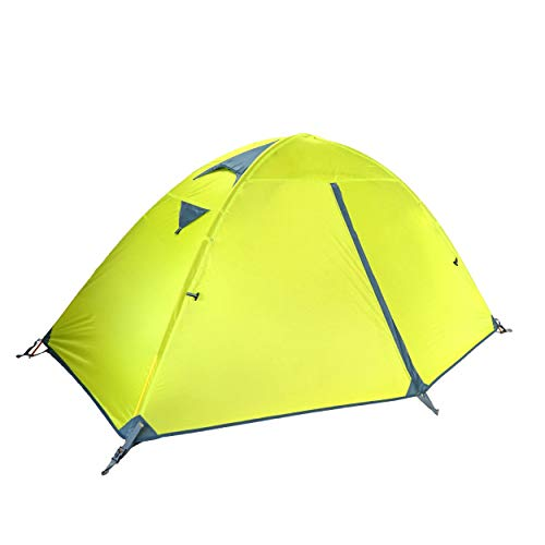 TRIWONDER 1-2 Personen Zelt, wasserdichte Doppelschicht Zelt Sonnenschutz für Camping, Outdoor, Festival mit kleinem Packmaß (Grün)