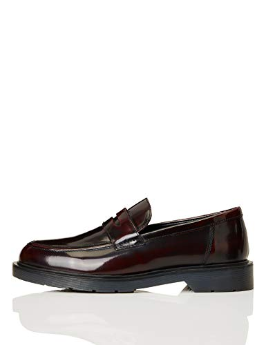 find. Cleated Penny Loafer Mocassino, Rosso (Burgunde), 42 EU