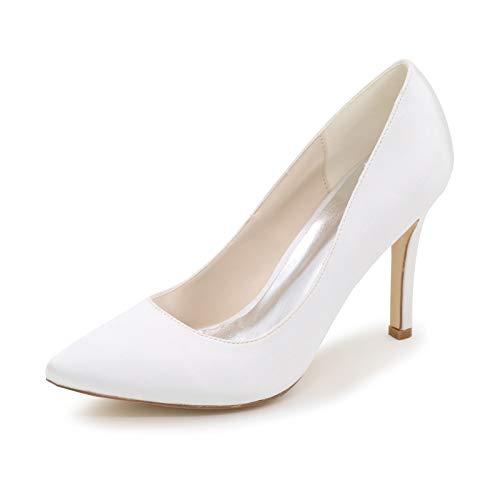 LGYKUMEG Mujer Zapatos de Tacón Zapatos Mujer Tacon Fiesta Sexy Clásico Stilettos High Heels Fiesta Boda para Mujer Tacones Altos 9.5cm,01,EU41