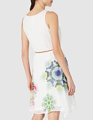 Desigual Vest_Shen Vestido Casual, Blanco, M para Mujer