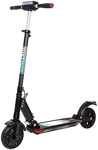 eFlux Lite One/Two Elektroroller Scooter - 500 Watt Motor - Bis 30 km/h - 30 Km Reichweite - Nur 10,8 Kg leicht - Klappbar - E-Scooter (Lite Two Schwarz)