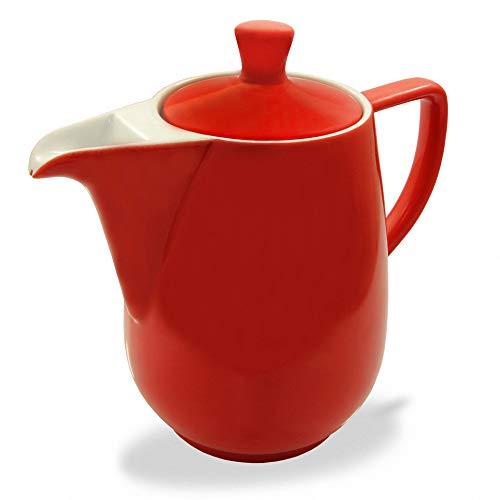 Friesland Kaffeekanne 0,9l Rot Porzellan