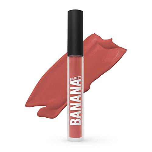 Banana Beauty Caramelita (3 ml) – Semi Matte Liquid Lipstick – kussechter Lippenstift Nude für volle Lippen – wunderschöner Lipgloss matt – intensiver Nude-Ton