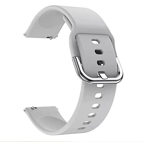 Sunbose 20mm Correa de silicona para Galaxy Watch 3 45mm / Galaxy Watch 46mm Brazalete, Brazalete deportivo de silicona para Huawei GT2 46mm / GT2 Pro / Huami Amazfit Stratos / Huawei GT Watch. (gris)