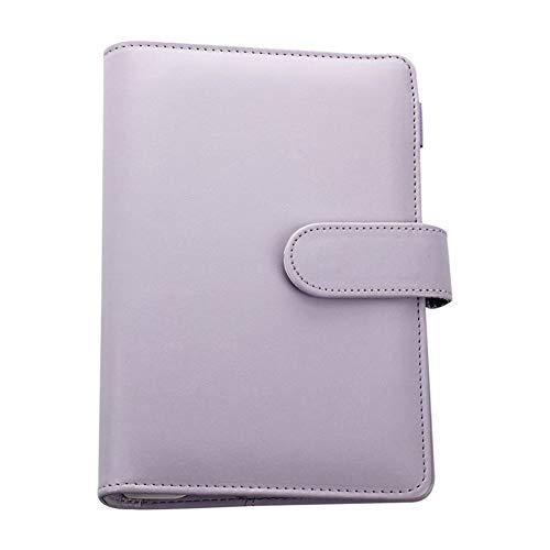 Escuela 19 * 13 cm de piel Helix Notebook original persona Carpeta semanal planificador/agenda Organizador precioso anillo Diario de papelería trabajo (Color : Purple, Size : A5)