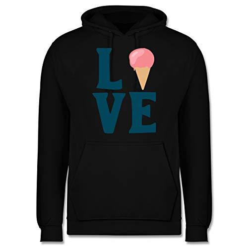Shirtracer Symbole - Love EIS - 4XL - Schwarz - Geschenk - JH001 - Herren Hoodie und Kapuzenpullover für Männer