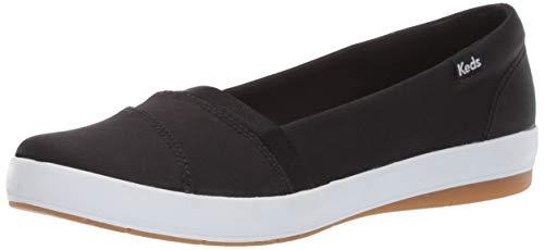 Keds Women's Carmel Twill Sneaker, Black, 8