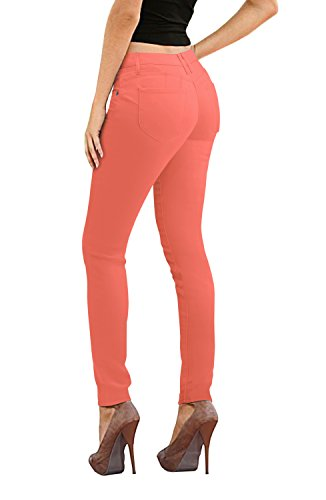 Women's Butt Lift Stretch Denim Jeans P43303SK Coral 5