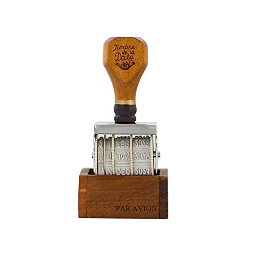 SUQ Sello Vintage, Sello de Fecha de Madera, sello de Números Personalizados del Balanceo para DIY, Craft Card Making Planner Scrapbooking Supplies Art Decoration