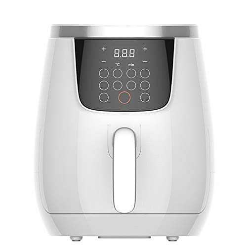 QuRRong Friggitrice ad Aria Electric Hot Air friggitrici 1300 Watt Forno Oilless Fornello con Lo Schermo Digitale LCD e frittura Pot per Una Sana Alimentazione Senza Olio (Color : White, Size : 3.5L)