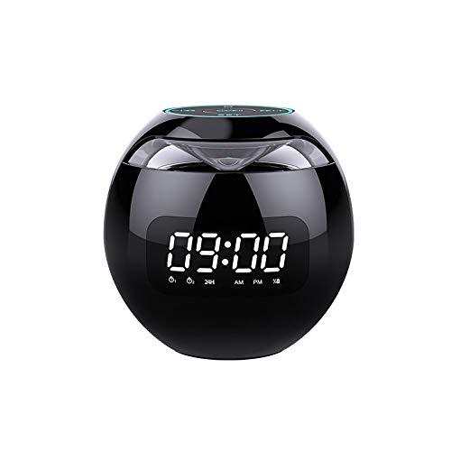 xiaoxioaguo Bola redonda bluetooth despertador altavoz portátil subwoofer tarjeta de radio pequeño altavoz