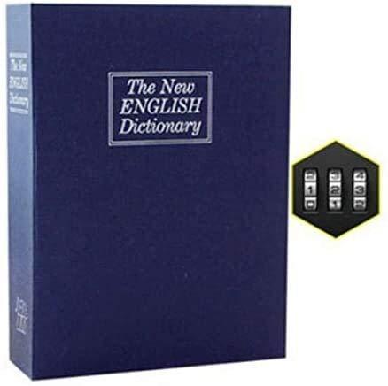 GLLP - Caja de seguridad para libros secretos con diseño de libro de simulación con cerradura para uso doméstico (color: contraseña azul, tamaño: S)