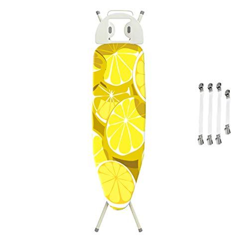 Funda para Tabla de Planchar, se adapta a tablas de hasta 125x45cm, resistente a las quemaduras, cordón fácil de atar, cubierta de tabla de planchar grande y compatible,Patrón de limon amarillo