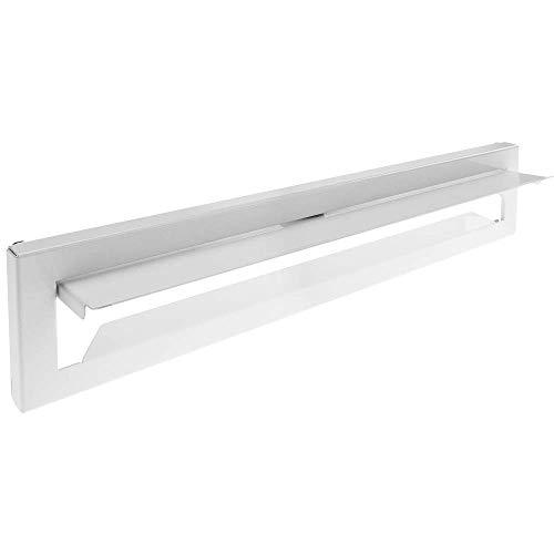 PrimeMatik - Postbrieven voor deuren en hekken in wit staal 364 x 71 mm