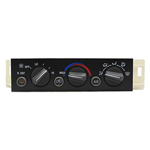 LOSTAR A/C Heater Climate Control Pannel with Rear Window Defogger Switch Fits 1996 1997 1998 1999 2000 Suburban Tahoe Yukon 9378805 15-72547