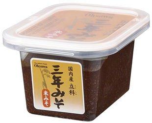 国内産立科三年みそ(米)300g ※3個セット ※国内産米・大豆使用 もろみのような味わい