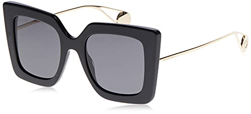 Gucci GG0435S Shiny Solid Black/Grey Solid One Size