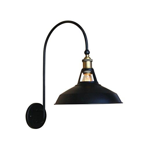 LIZHIQIANG Lampe Murale Moderne Américaine, Abat-Jour en Fer Forgé Personnalisé Clubhouse Lampe De Chevet Murale, Entrepôt Industriel Phare Unique, Noir