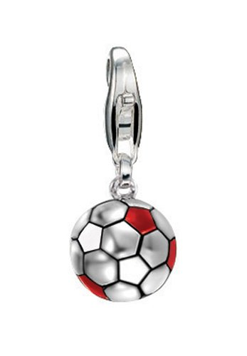 ESPRIT Charm Football Football RED/White 925 Sterling Silber S.ESZZ90466C000