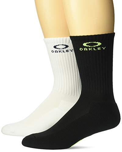 Oakley Herren Ellipse Macro (2 PCS Pack) Legere Socken, Blackout, Large