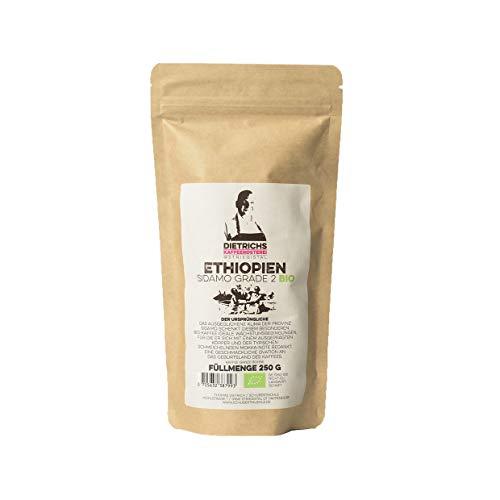 handgerösteter Kaffee SIDAMO GRADE 2 BIO ETHIOPIEN - 100% Arabica, ganze Bohnen 250g DIETRICHS KAFFEERØSTEREI