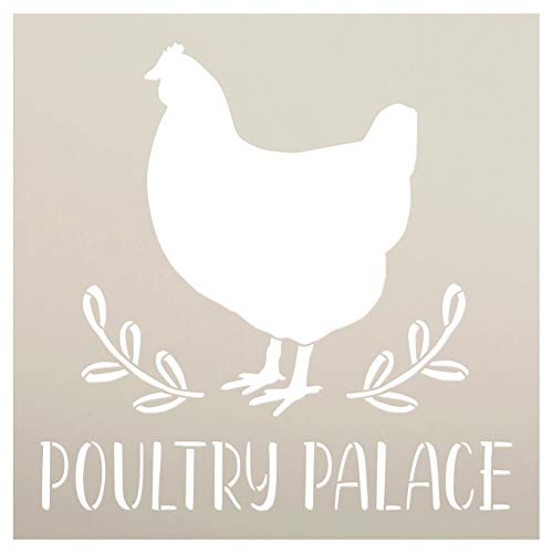 Poultry Palace Chicken Stencil by StudioR12 | DIY Farmhouse Home Decor...