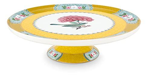Pip Studio Plato para tarta pequeño Blushing Birds   amarillo – 21 cm