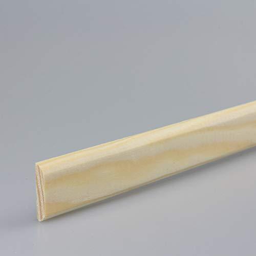 Tapetenleiste Abdeckleiste Wandschutzleiste Holz-Bordüre Bastelleiste Flachprofil aus Kiefer-Massivholz 2100 x 4 x 23 mm