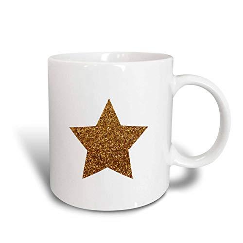 N\A mug_184931_2 Estrella Dorada Hecha a Partir de un gráfico fotográfico Brillante - Taza de cerámica con Brillo no Real