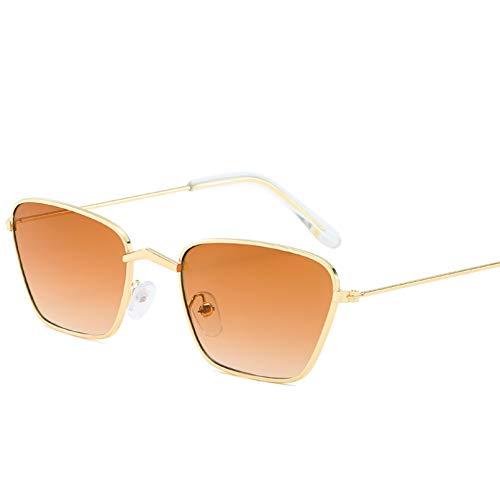 YTYASO Occhiali da Sole Quadrati Piccoli Donna Uomo Lenti Colorate Trasparenti Occhiali da Sole ellittici Unisex per Donna Donna UV400