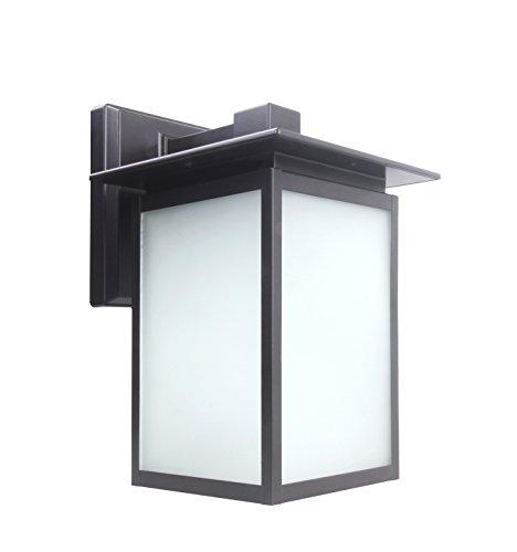 Lit-Path - Farol de pared LED para exteriores, aplique de pared como lámpara de porche, 12,5 W (equivalente a 125 W), 1250 lúmenes, bronce aceitado, certificación ETL y ES., Moderno, 5000K luz de día blanca