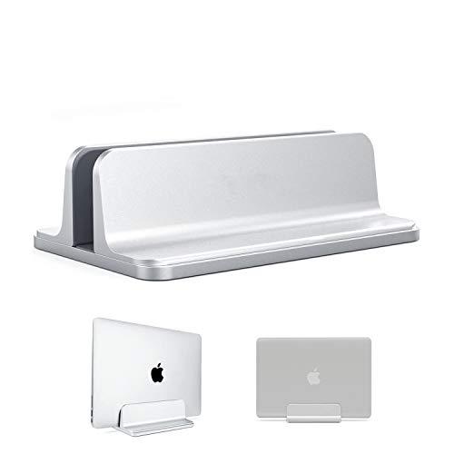 Soporte vertical para ordenador portátil, soporte de escritorio con tamaño de base ajustable, soporte para portátiles compatible con todos los ordenadores portátiles MacBook Surface Gaming Pad