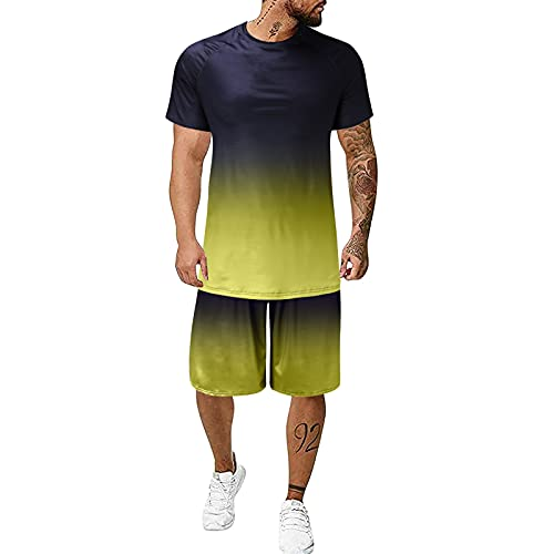 Herren Short-Jogginganzug Shortanzug Sportanzug Short T-Shirt Modell