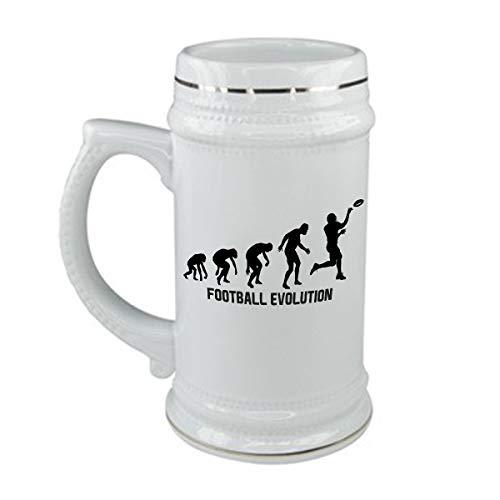 bubbleshirt Boccale da Birra Football Evolution - Sport - Football Americano - Humor - Idea Regalo