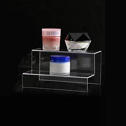 Klare Acryl Display Riser, 3/2 Ebenen Klar Acryl Kunststoff Schrank Display Stand, Schmuck Display Riser Schaufenster Leuchten