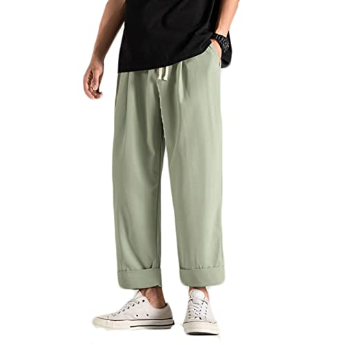 Feidaeu Pantaloni Corti Larghi Casual per Uomo Pantaloni da Jogging Leggeri e Sottili in Tinta Unita Pantaloni Dritti in Tinta Unita