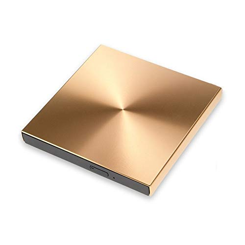 ZHENGZEQU DVD USB 3.0 de aleación de Aluminio Externo Grabadora de DVD Reproductor de CD Delgado Portatil Unidad óptica