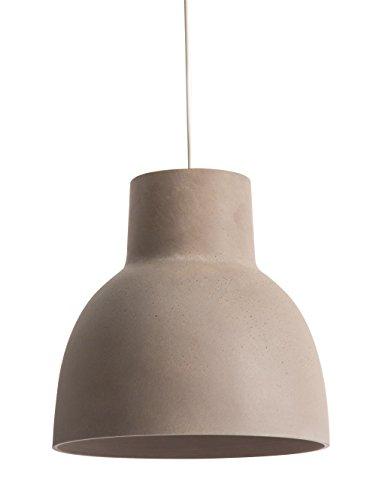Lámpara Studio block 30, suspensión de hormigón, 60 W, color topo, diámetro 30 x altura 30 cm