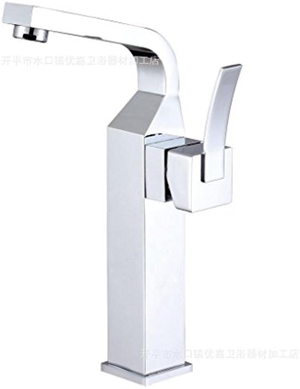 Caribou@Waschtischarmatur Wasserhahn Spültisch Küche Waschtisch Waschenbecken Bad Moderne Messing verchromt warmes und kaltes Leitungswasser