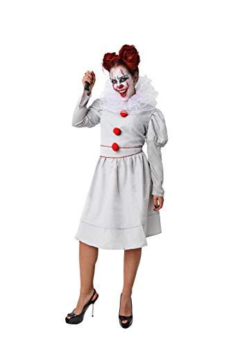 Costumizate! Disfraz de payasa asesina para Adulto Talla Unica Halloween