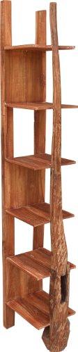 Guru-Shop Smalle Teakhouten Plank - Model 14, Bruin, 200x30x38 cm, Boeken-Wandplanken