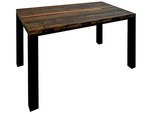 Unbekannt Esszimmertisch Esstisch 140x90 Platte Texas Oak Gestell schwarz