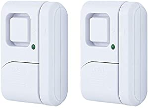 GE 45115 Personal Security Window/Door, 2-Pack, DIY Protection, Burglar Alert, Wireless Chime/Alarm, Easy Installation, Ideal for Home, Garage, Apartment, Dorm, RV and Office, White, 2 Count
