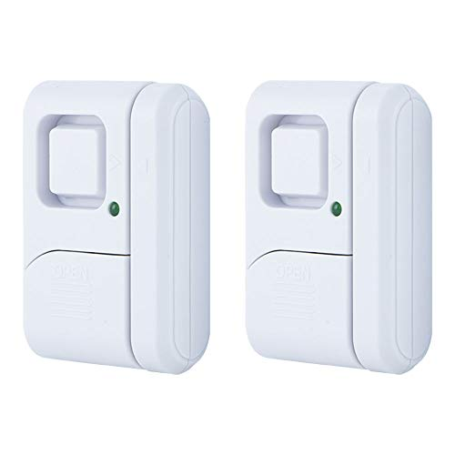 GE 45115 0 Personal Security Window/Door Alarm, 2-Pack, White, 2 Count