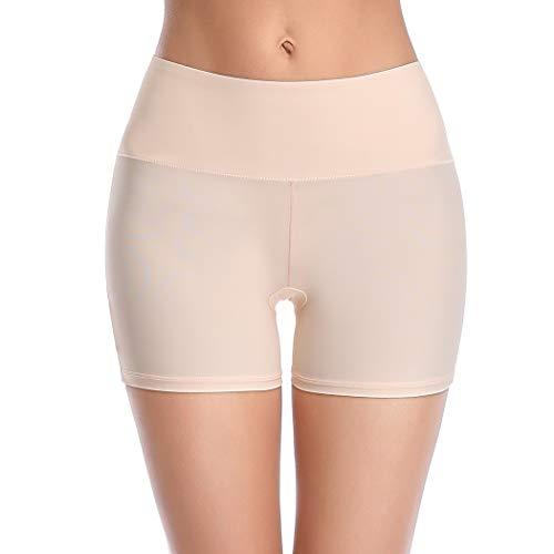 Pantalones cortos Joyshaper para mujer, sin costuras, antirozaduras, ultra finos, antirozaduras, pantalones cortos lisos, pantalones cortos para niño Beige-1 XXX-Large