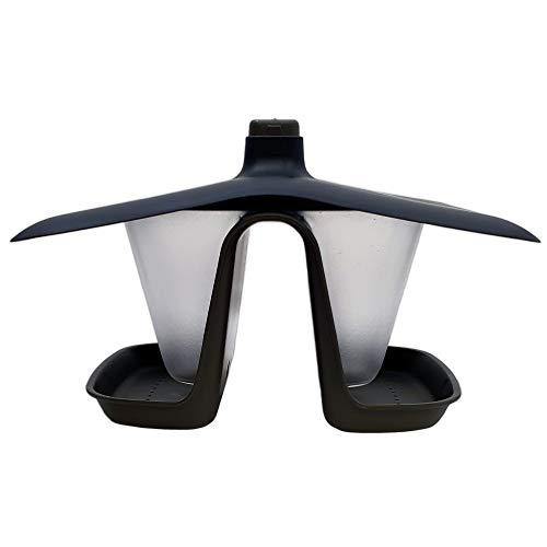 Erhard-Trading CASITA - Comedero para pájaros doble, color negro y gris