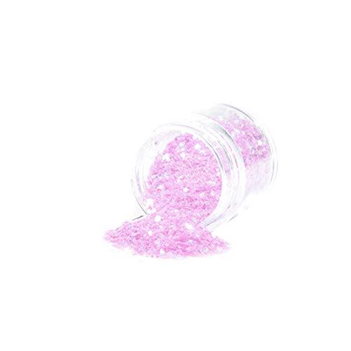 tyrrdtrd Nagelglanz-Pulver, holografischer Glitzer-Pailletten, Maniküre-Werkzeug, Pink