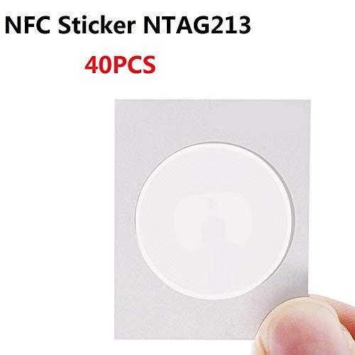 180 byte 22 mm 100/% compatible blanco WiFi, Bluetooth, Apps 100 NFC Tag Pegatinas ideal para dispositivos de//Control de perfil