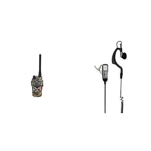Midland, G9 PRO, Ricetrasmittente Walkie-Talkie Dual Band, 40 Canali PMR 446, 69 Canali LPD & Midland MA21-L Microfono con Mono Auricolare Regolabile, Accessorio